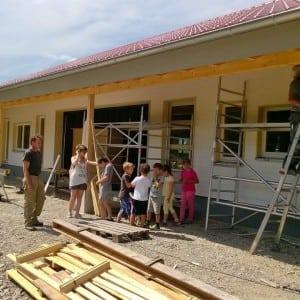Besuch auf der Baustelle