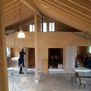Baufortschritt Scheune Dezember 2017
