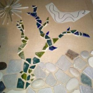 Mosaik-Wände im Abenteuerland
