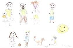 Zeichnung Familie