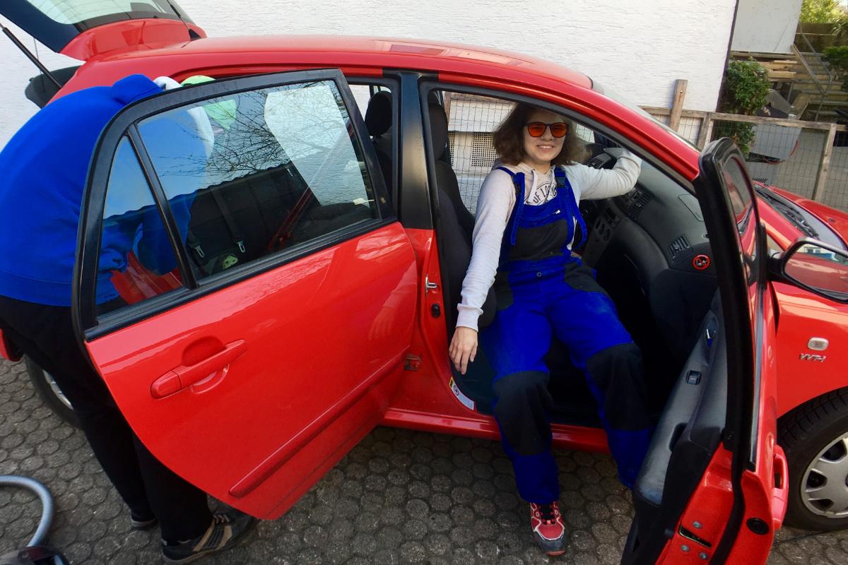 Reinigungsservice für Autos