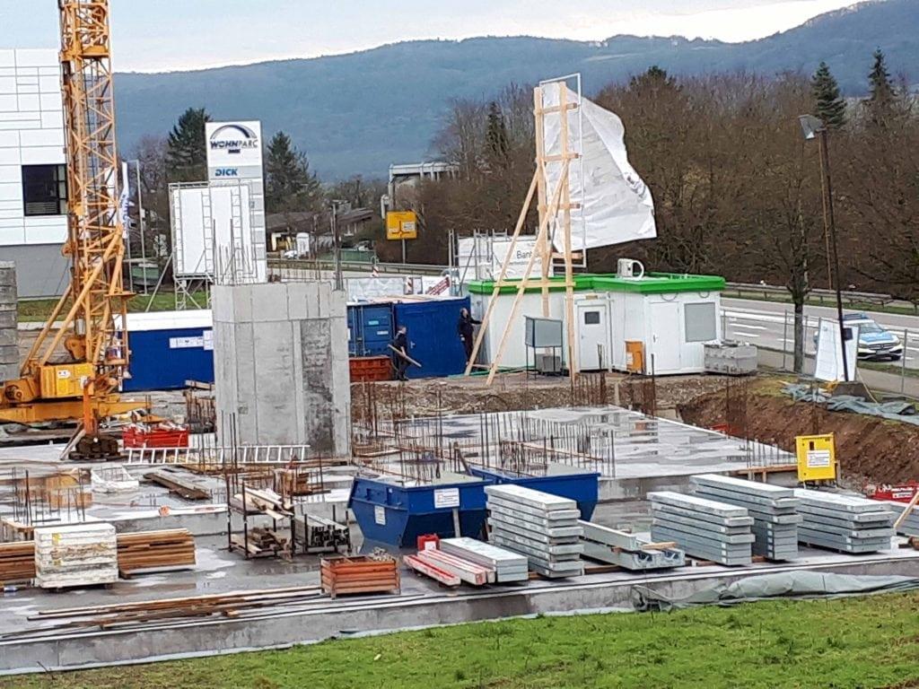 Neubau Familienzentrum Hochrhein im Januar 2018