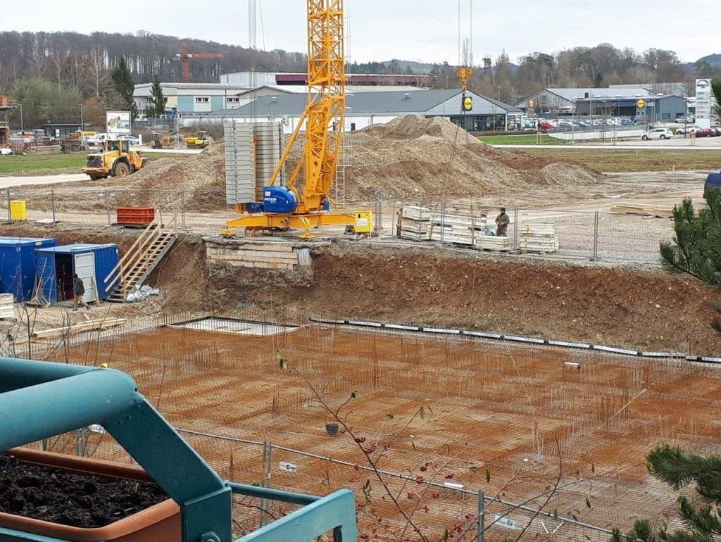 Neubau Familienzentrum Hochrhein im März 2018