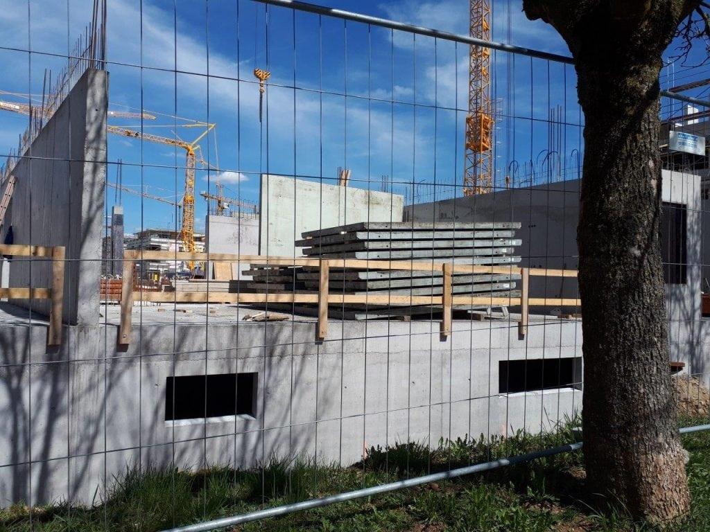 Neubau Familienzentrum Hochrhein im April 2018