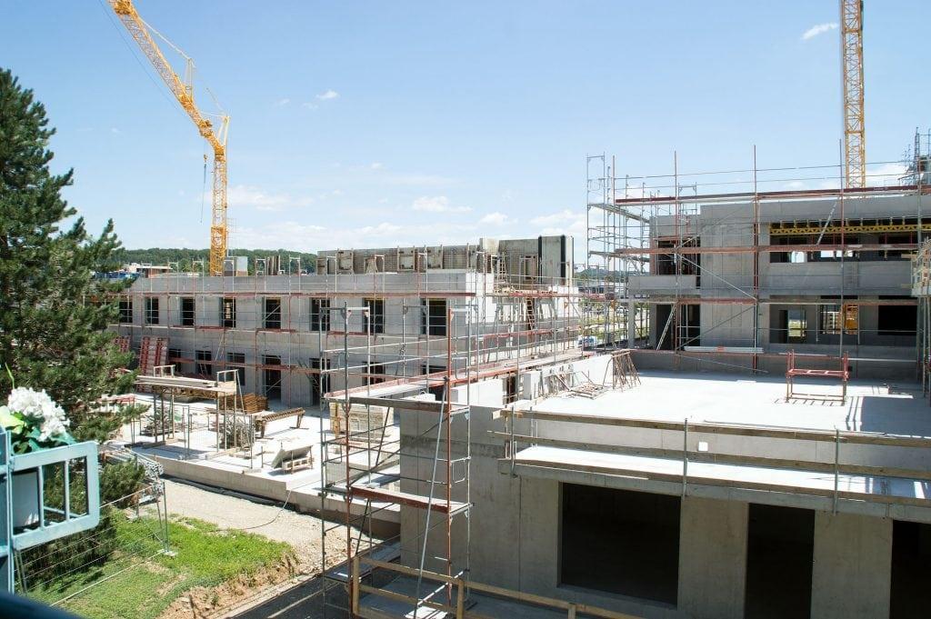 Neubau Familienzentrum im Juli 2018