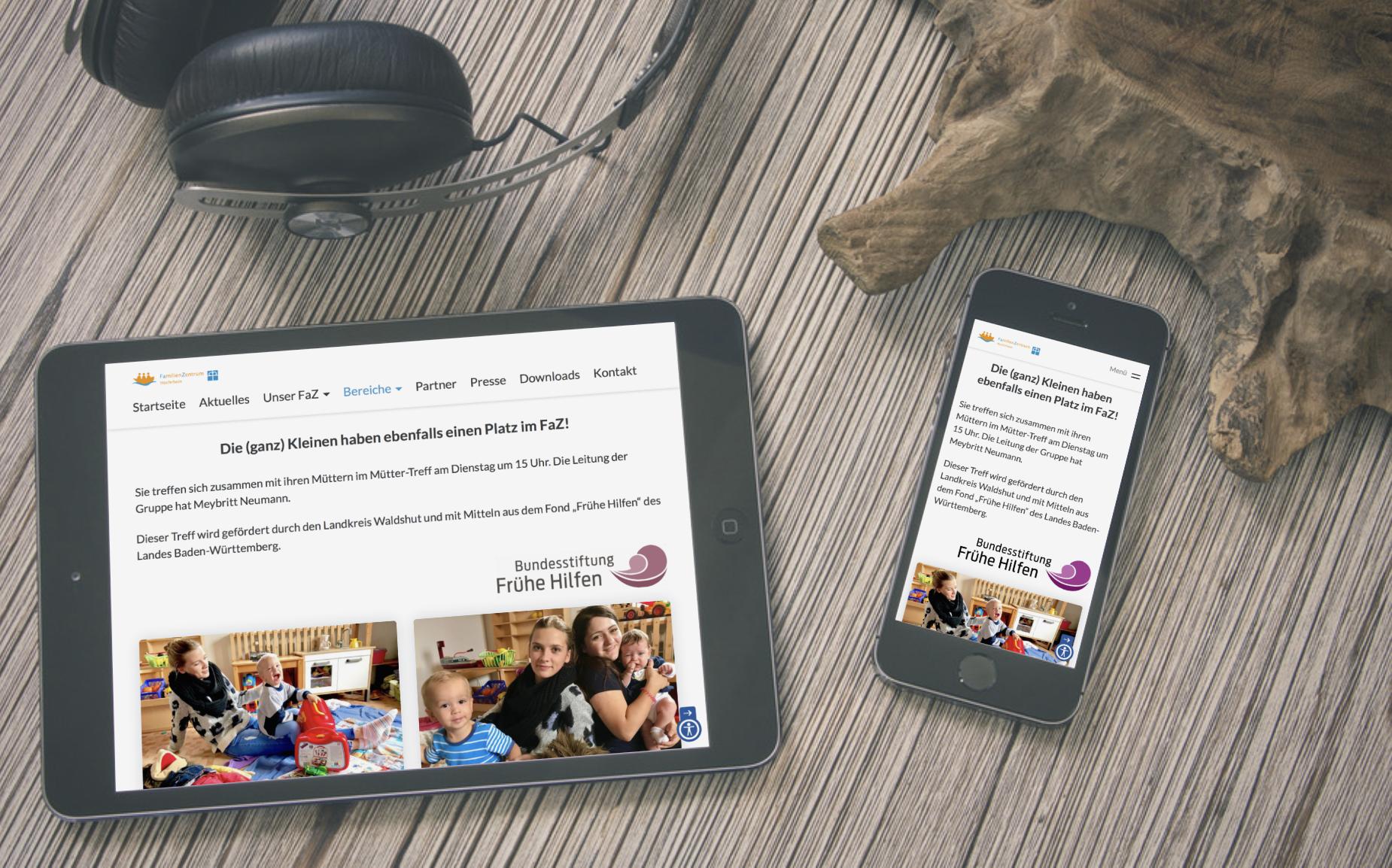 Neue Website auf Tablet & Smartphone